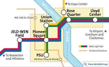free rail zone public transit
