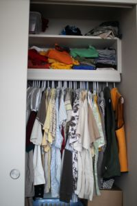 closet clutter