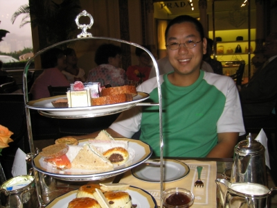 Afternoon tea at the Peninsula