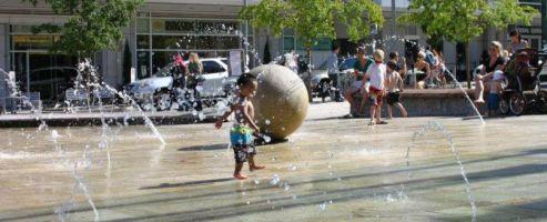 baby splash fountain