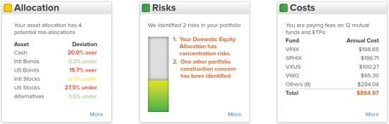 Personal Capital Asset Allocation investment checkup