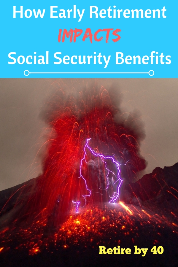 How Early Retirement Impacts Social Security Benefit. It will reduce my retirement benefits. But self-employment will help a ton. #SocialSecurity #FIRE #selfemployment #blogging