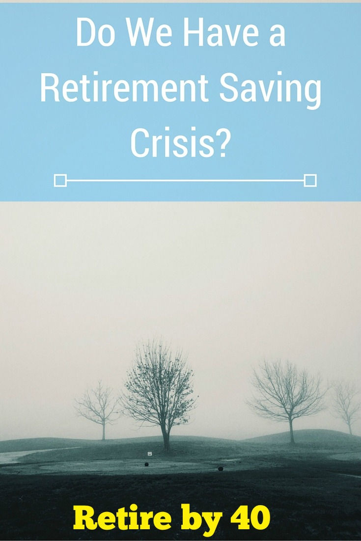 Most US households aren't saving enough for retirement. Even well to do households only has $104,000 saved. Do we have a retirement saving crisis?