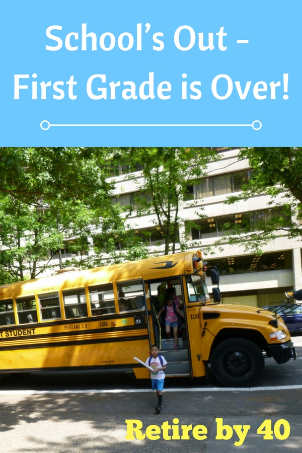 School's out! Our son got through the first grade with minimal trouble. It was much better than the previous year in kindergarten. See how he did.
