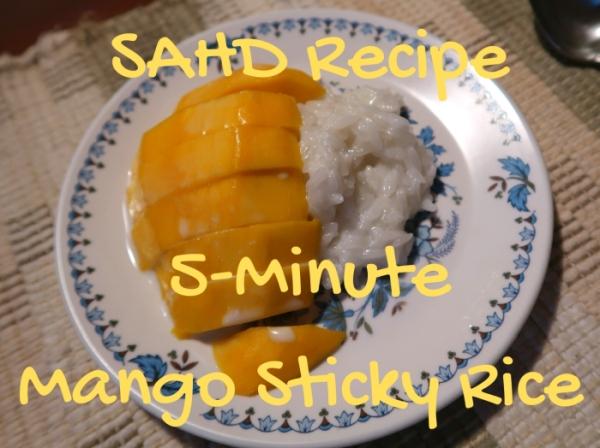 coconut sticky rice mango