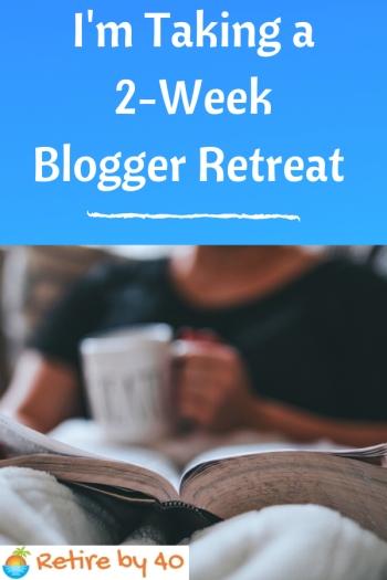 Estou fazendo um retiro de 2 semanas do Blogger 1