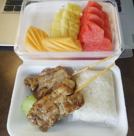 quarentena lanche comida tailandesa